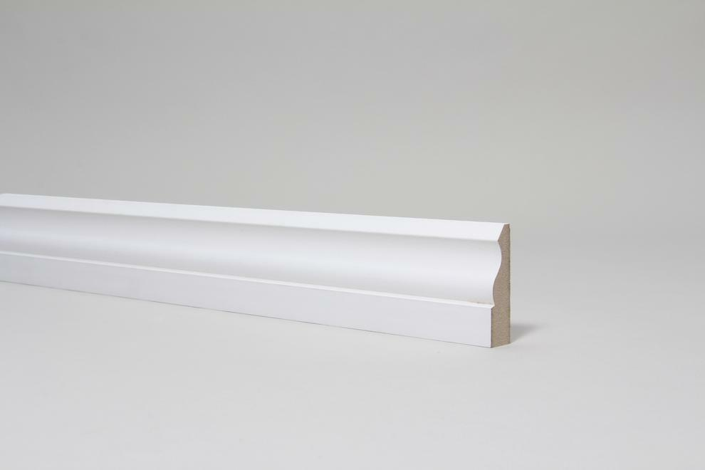 White Primed Mdf Architrave 18 X 69mm Ogee Matching