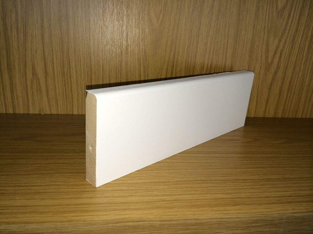 White primed mdf skirting boards mm bullnose