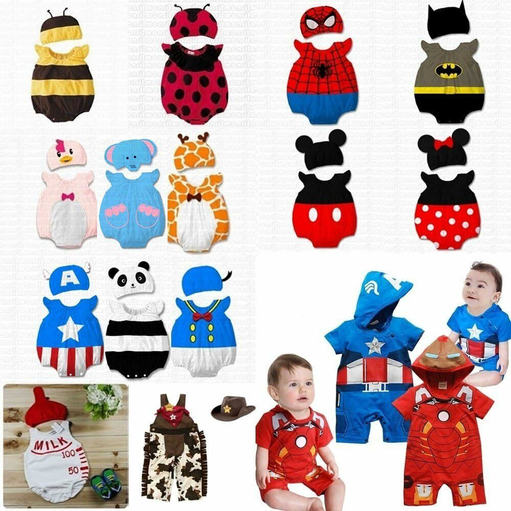 ebec829ce Baby Toddler Boy Girl Carnival Fancy Dress Party Costume Outfit Clothes+HAT  Set