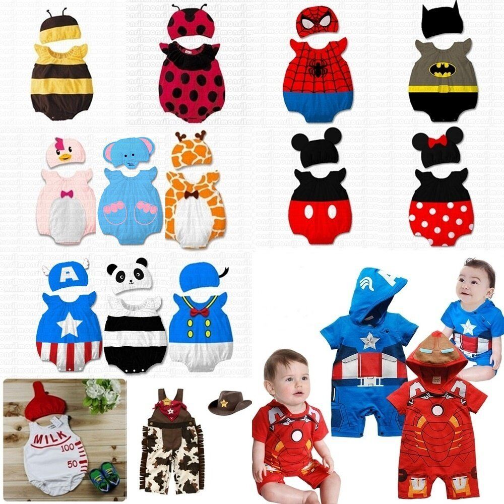 Baby Toddler Boy Girl Summer Fancy Dress Party Costume Outfit Clothes+HAT Set | eBay  sc 1 st  eBay & Baby Toddler Boy Girl Summer Fancy Dress Party Costume Outfit ...