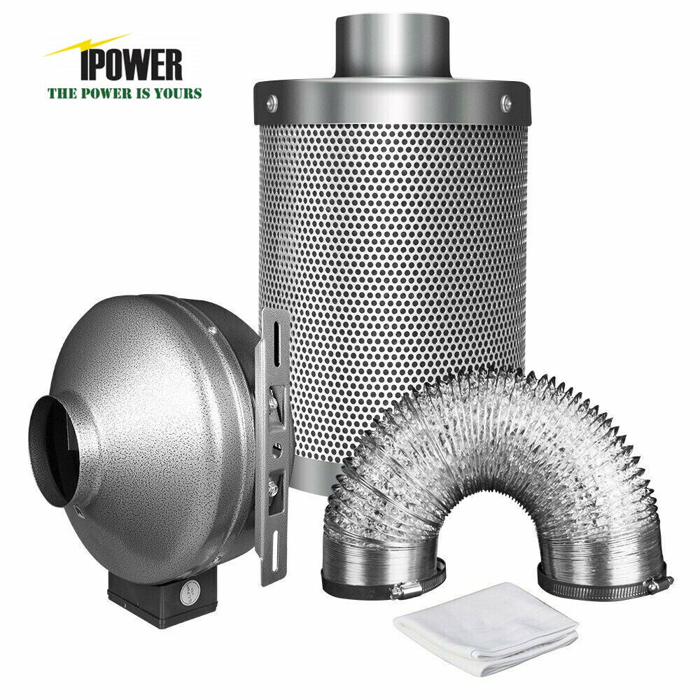 4 Inch Fan : Ipower quot inch inline fan carbon air filter