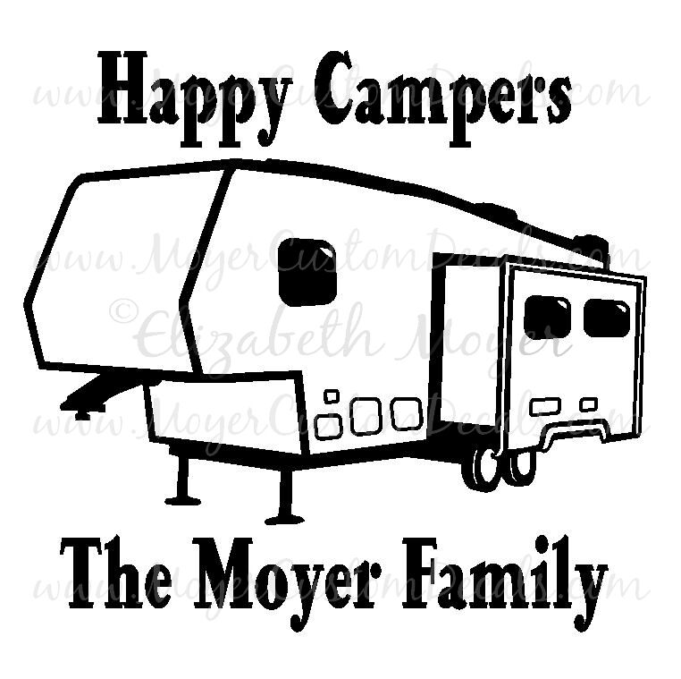 5th fifth wheel camper trailer camping decal sticker you