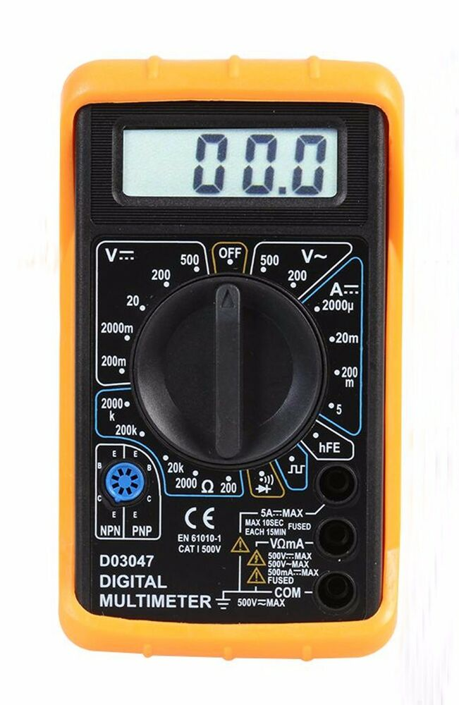 Check For Continuity Voltmeter : Digital multimeter with continuity buzzer model d pt