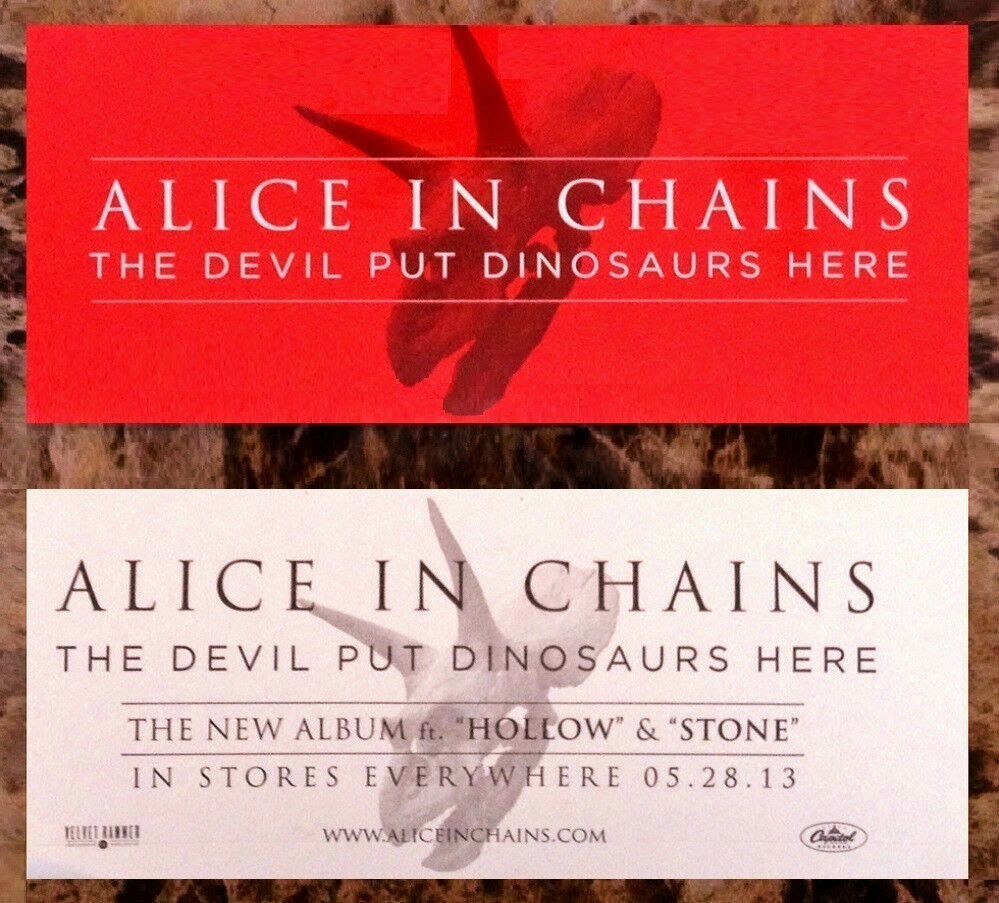 alice in chains the devil put dinosaurs here ltd ed rare sticker free stickers ebay. Black Bedroom Furniture Sets. Home Design Ideas