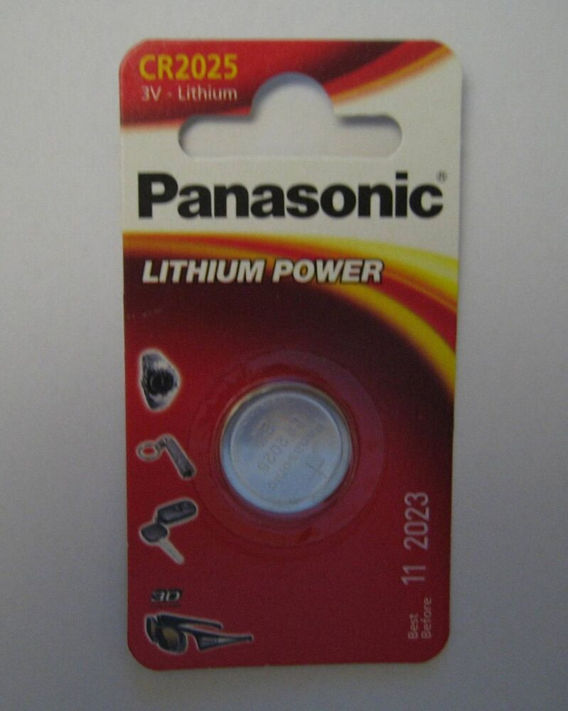 Panasonic Cr2025 3v Lithium Battery Button Cell Expiry