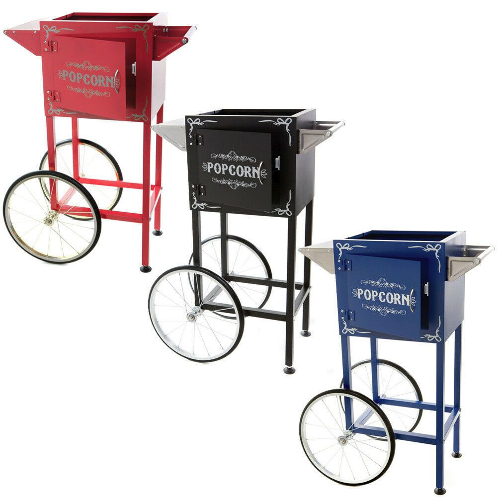 popcorn machine cart section red black or blue ebay. Black Bedroom Furniture Sets. Home Design Ideas