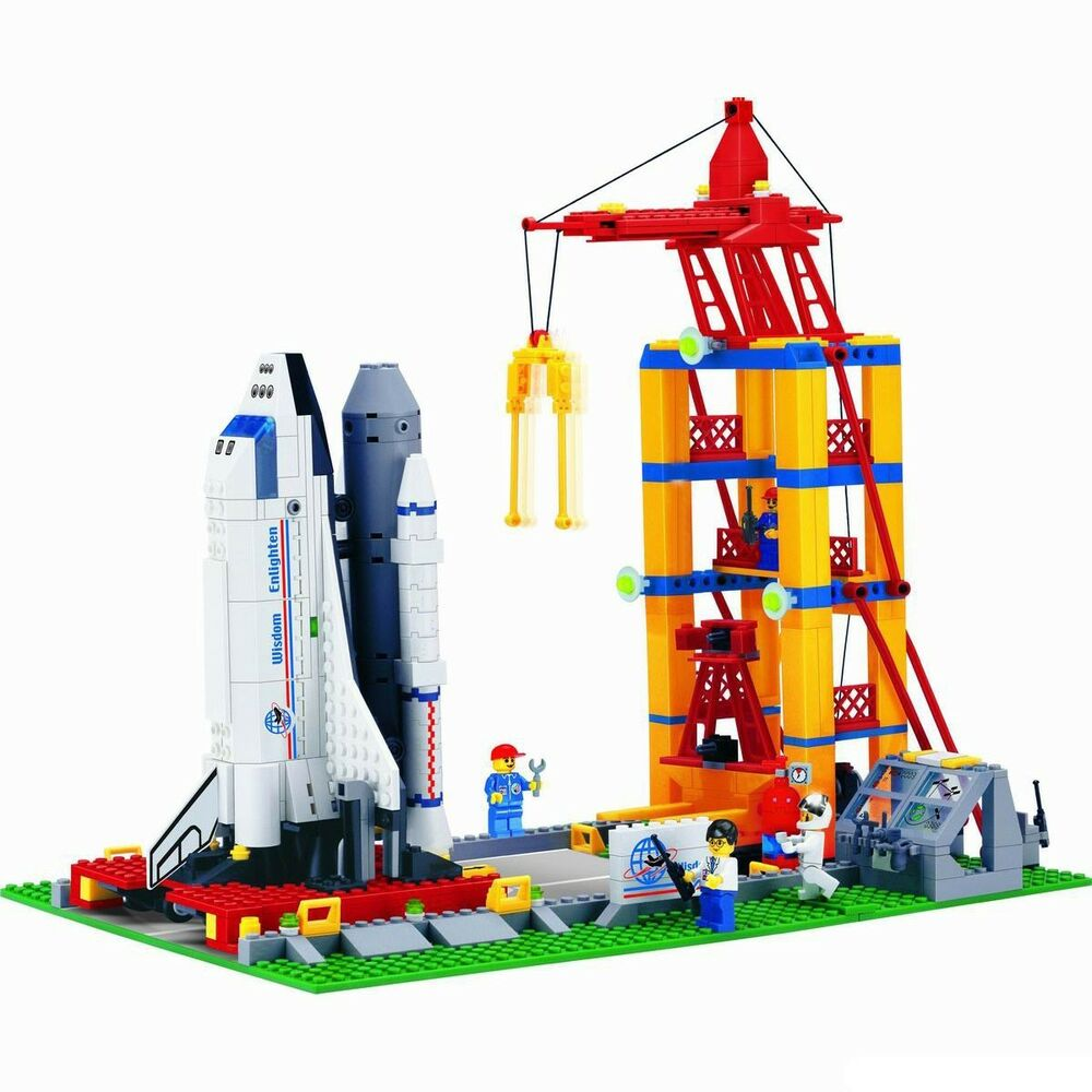 New Building Blocks Toys Space shuttle Launch base Gift #515 584pcs ...