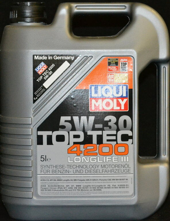 5 liter liqui moly top tec 4200 5w30 motor l 5w 30 vw. Black Bedroom Furniture Sets. Home Design Ideas
