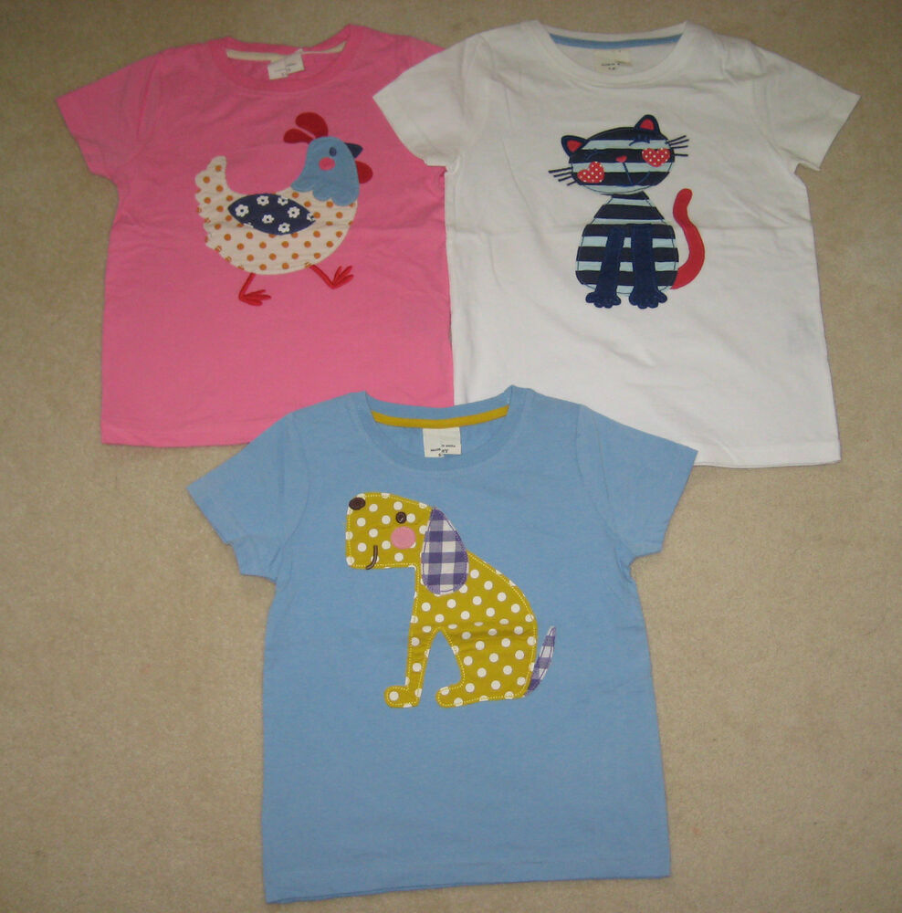 New mini boden t shirt top 1 5 12 years cat dog chicken ebay for Mini boden england