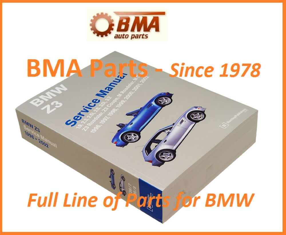 Bmw Z3 Bentley Repair Manual 1996 2002 Including M Roadster Coupe Bz02 Ebay
