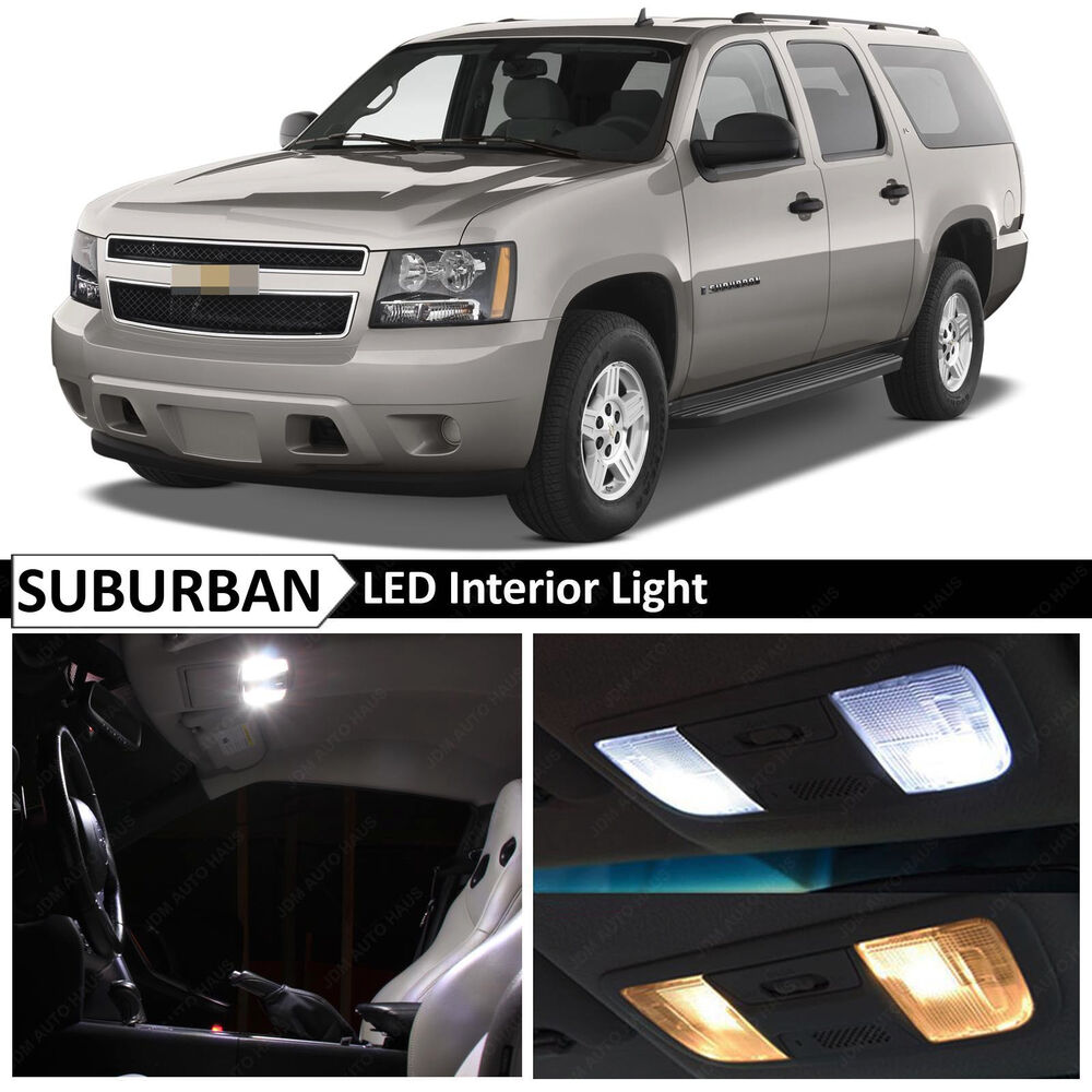 15x 2007 2014 Chevy Suburban White Led Package Interior Kit Ebay