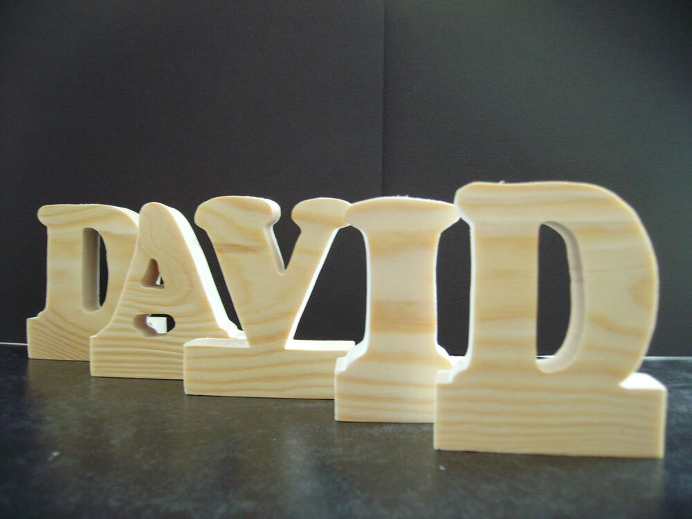 Free standing large wooden letters home decor kids ebay for Large freestanding wooden letters