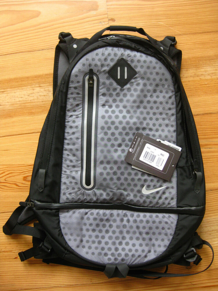 3e07460711f6 Details about Nike Cheyenne Vapor Running Backpack Lightweight Laptop Black  Grey Pack