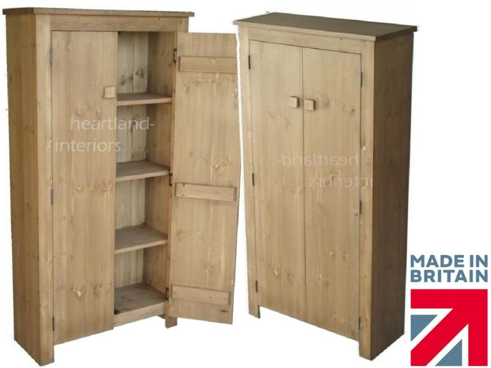 Solid Pine Cupboard 1450mm X 750mm Handcrafted Waxed 2