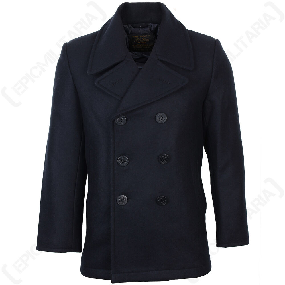Quality Pea Coat in classic navy color from Surplus is currently in stock at Military 1st, a tactical online store. Visit our website for a complete selection of army style coats .