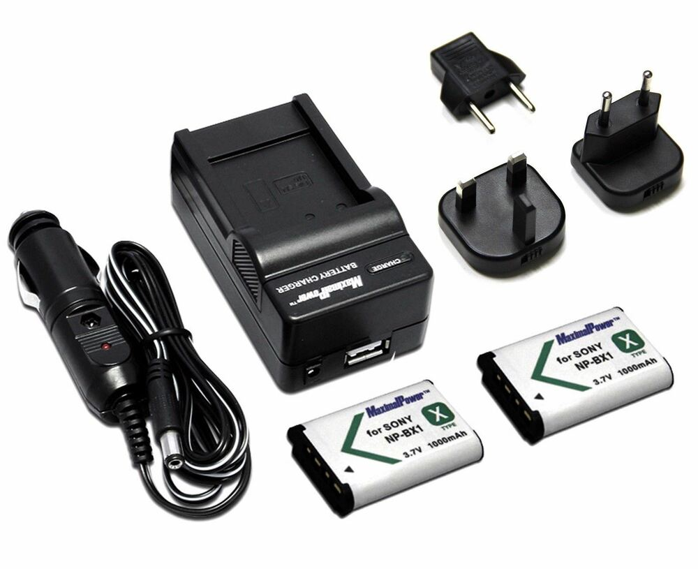 2x charger two camera batteries sony np bx1 npbx1 cybershot dsc rx100 ebay. Black Bedroom Furniture Sets. Home Design Ideas