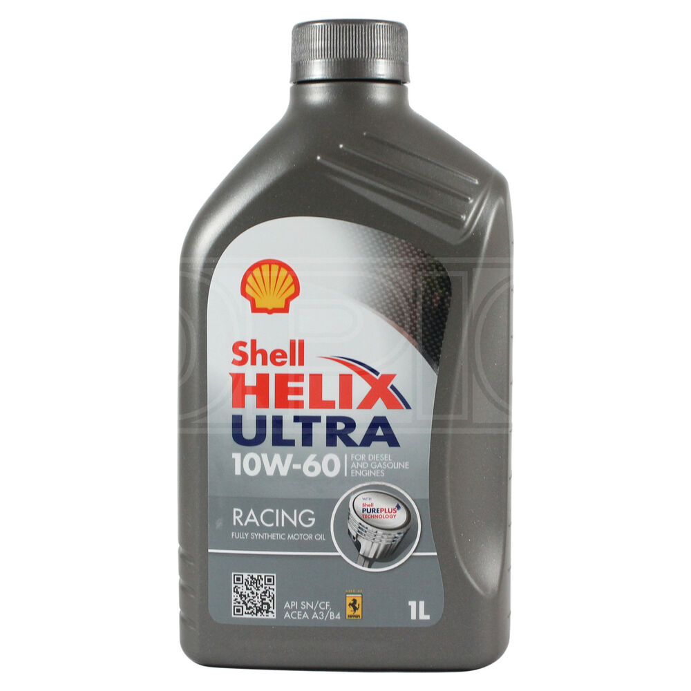 Shell Helix Ultra Racing Fully Synthetic Engine Oil 10w 60