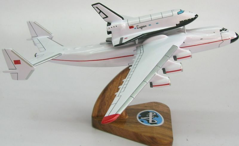 Antonov an 225 space shuttle buran airplane wood model small free shipping ebay - Small space shuttle model ...