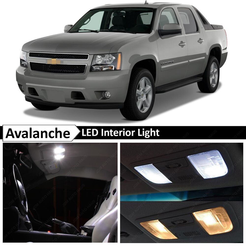 14x White Led Lights Interior Package Kit 2007 2014 Chevy Avalanche Tool Ebay