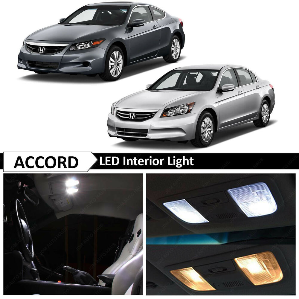 14x white interior led lights package kit for 2003 2012 honda accord tool ebay. Black Bedroom Furniture Sets. Home Design Ideas