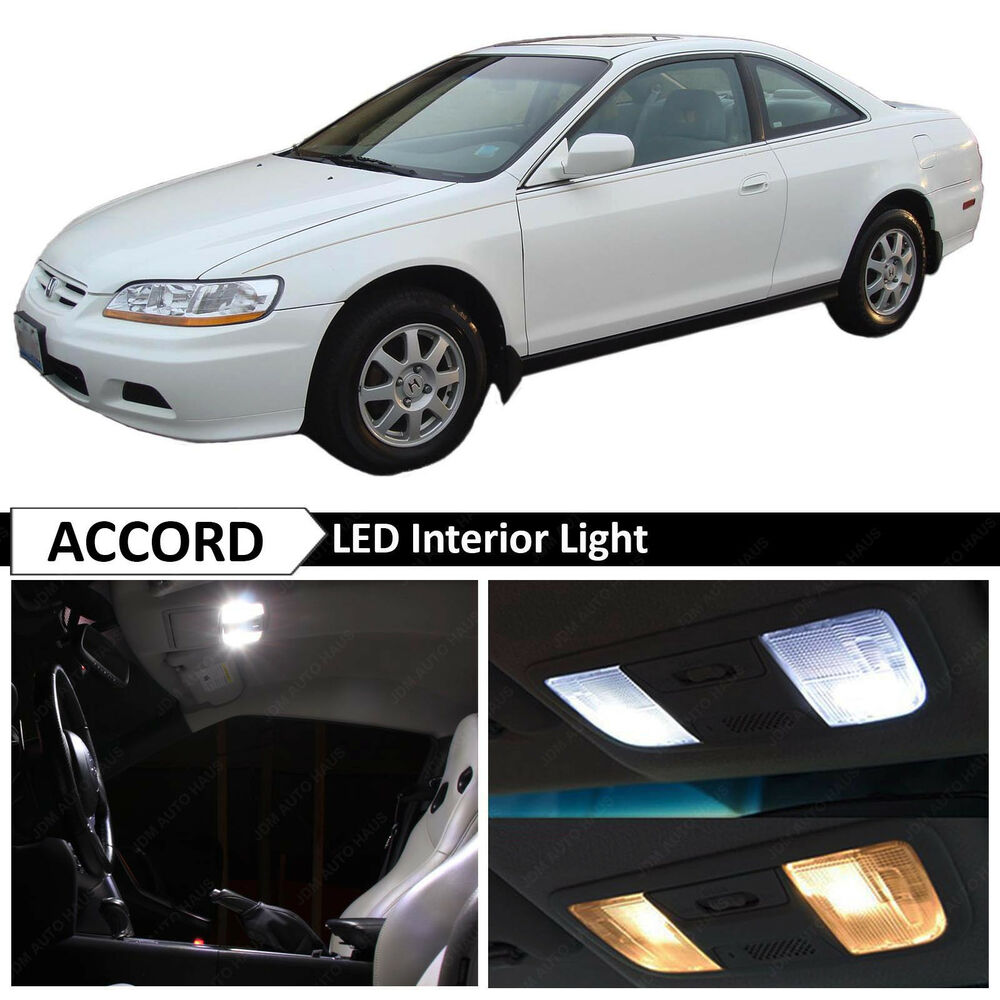 10x white led interior lights package for 1998 2002 honda accord coupe ebay. Black Bedroom Furniture Sets. Home Design Ideas