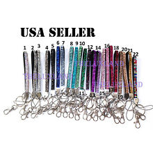 New Rhinestone Bling Crystal Cell Phone Holder and Key Chain Wristlets Lanyard