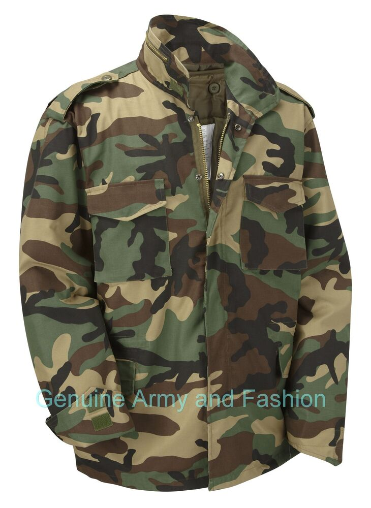 6XL NEW VINTAGE M65 JACKET US MILITARY ARMY FIELD COMBAT WITH QUILTED LINER XS