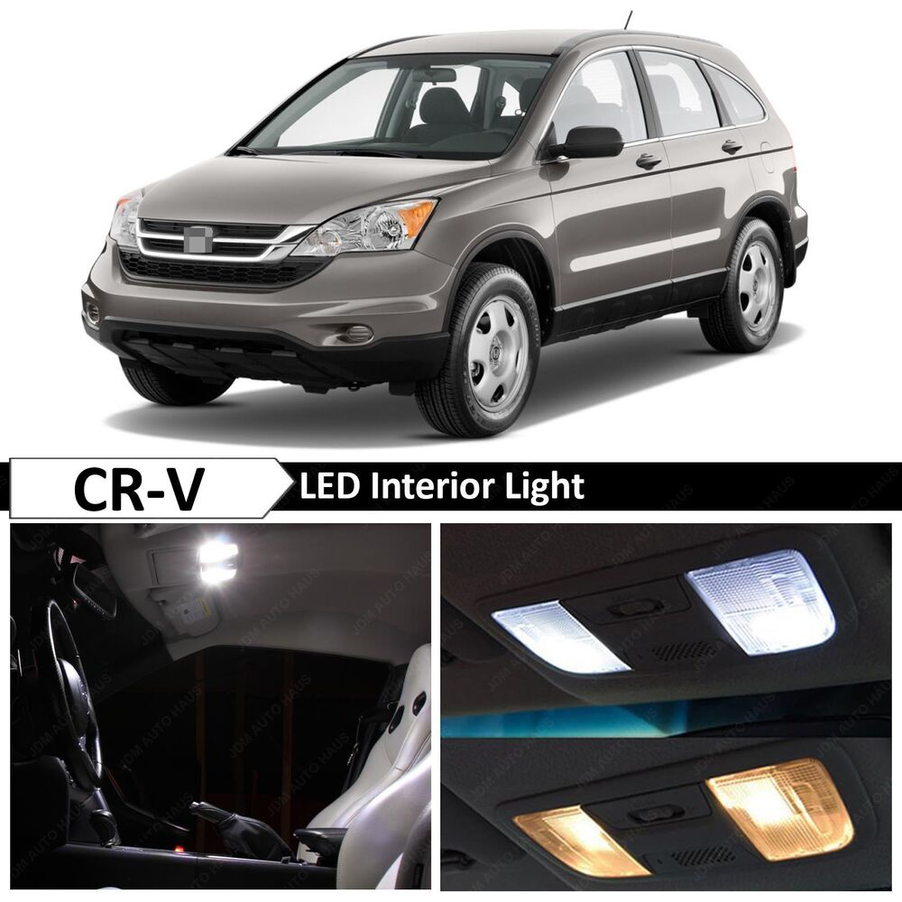 10x White Led Lights Interior Package For 2007 2012 Honda Cr V Crv Ebay