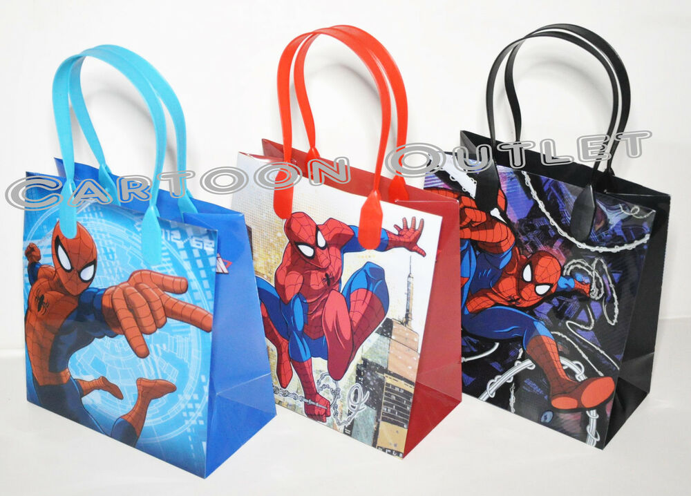 Spiderman Goodie Candy Bags Loot Party Favors 12 Pc Spidey