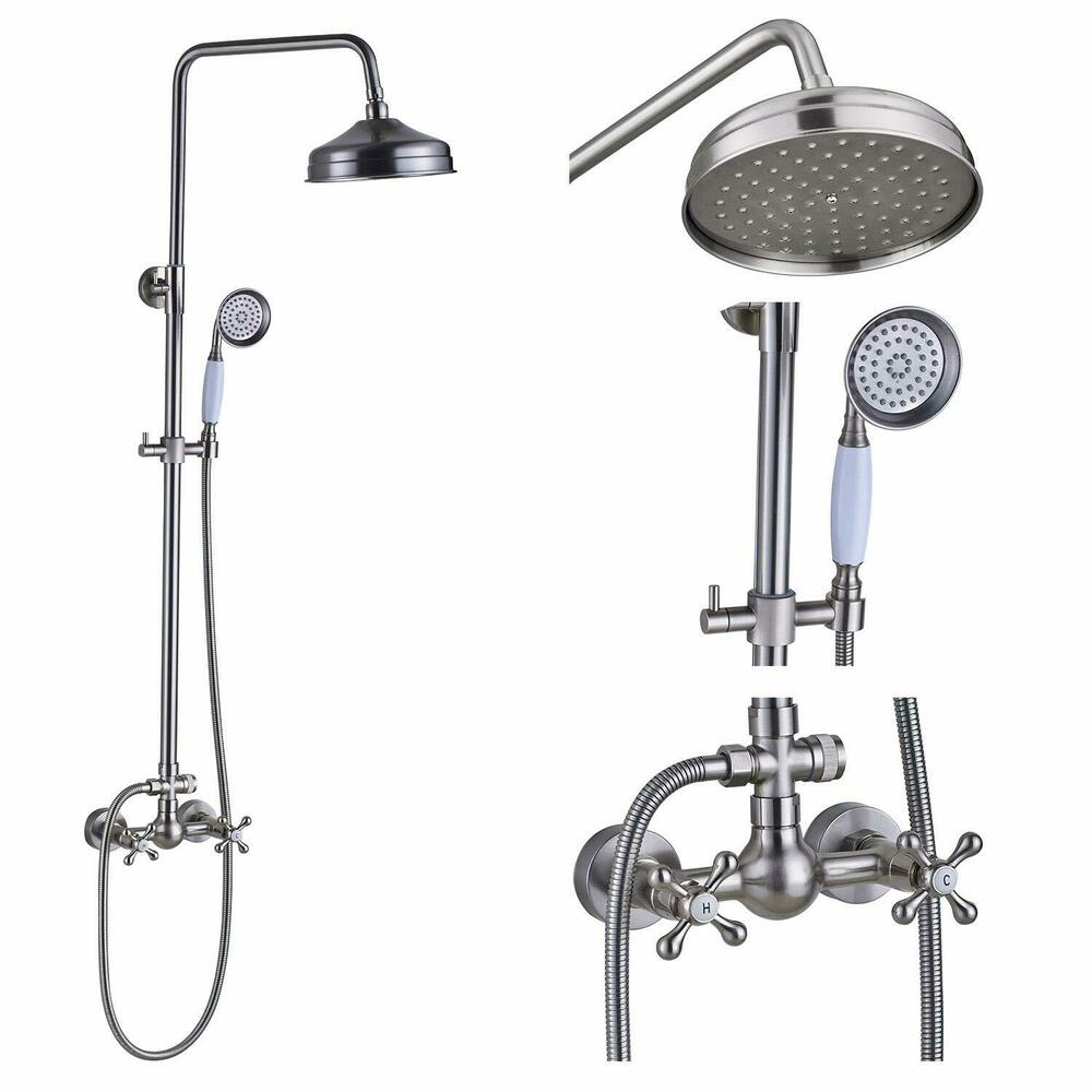 Wall Mount Rain Shower Faucet Set Handheld Shower Faucet