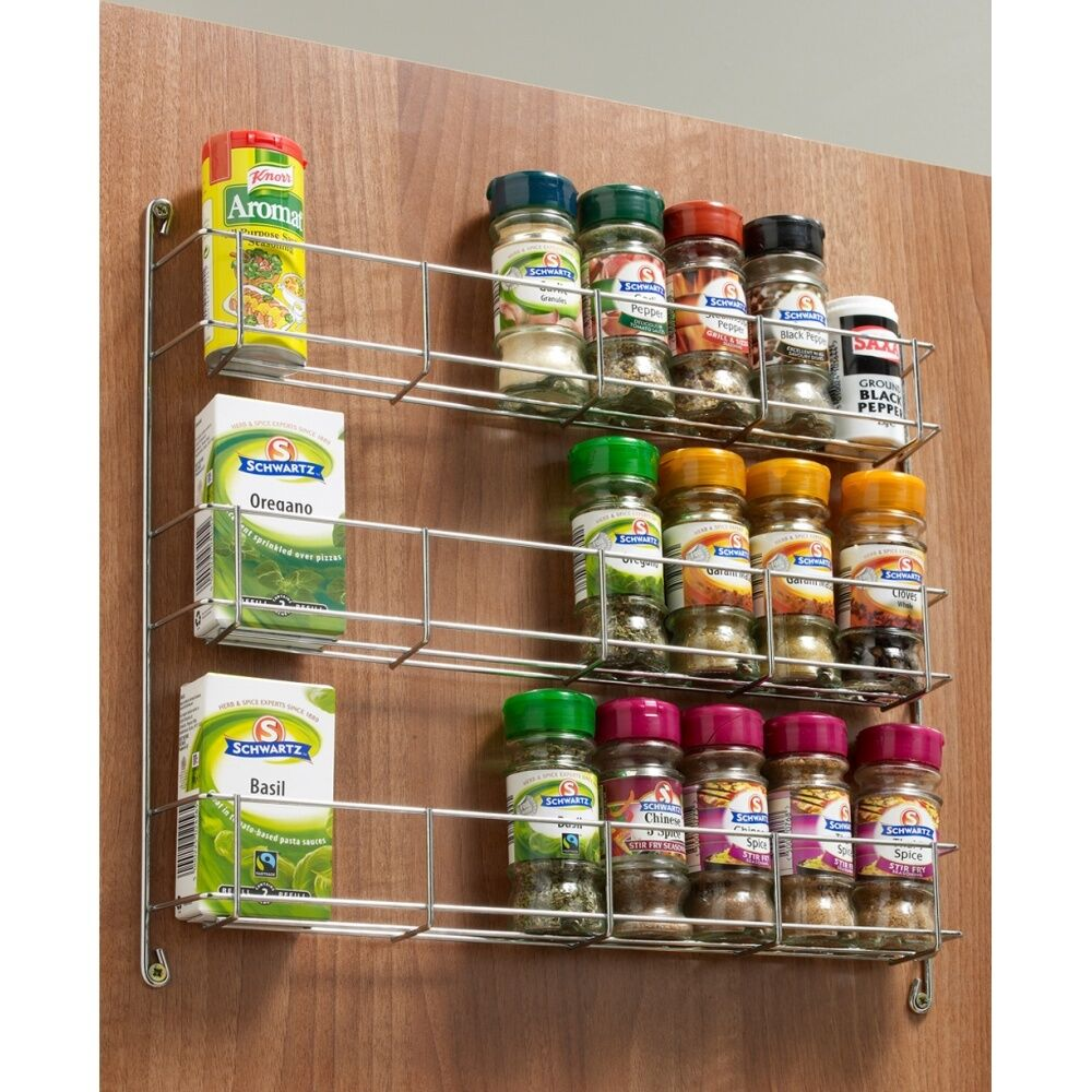 tiered spice racks for kitchen cabinets spice jar rack 3 tier chrome wall kitchen cupboard 300 400 9463