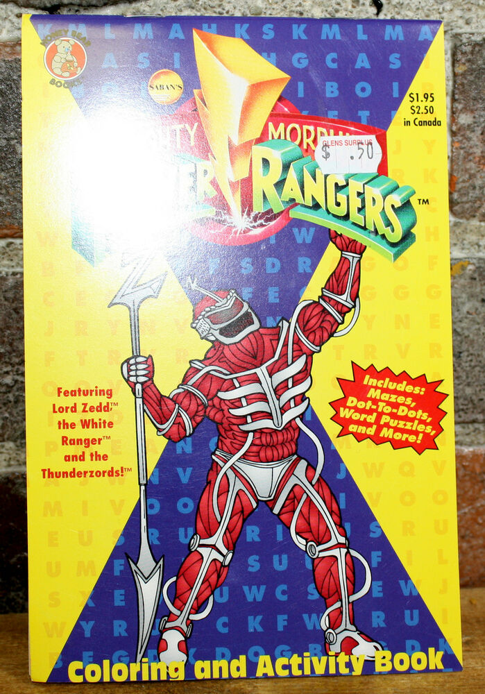 Books Mighty Morphin Power Rangers Coloring and Activity Book | eBay
