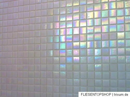 glasmosaik fliesen mosaik perlmutt effekt weiss top bad dusche pool ebay. Black Bedroom Furniture Sets. Home Design Ideas