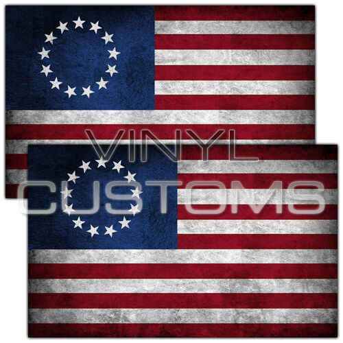 Betsy Ross Flag Vinyl Decal Sticker American Flag 5 Quot In