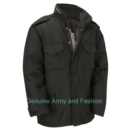img-M65 Jacket Army Military Combat US Field Winter Quilted Warm Lined Vintage Black