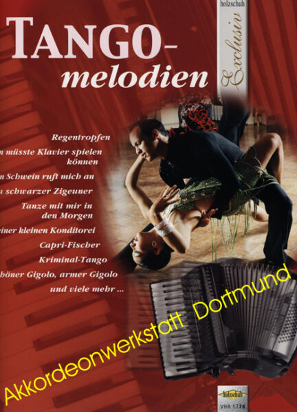 Tango - melodien, Noten für Akkordeon, Sheet Music Book  for accordion, VHR 1776