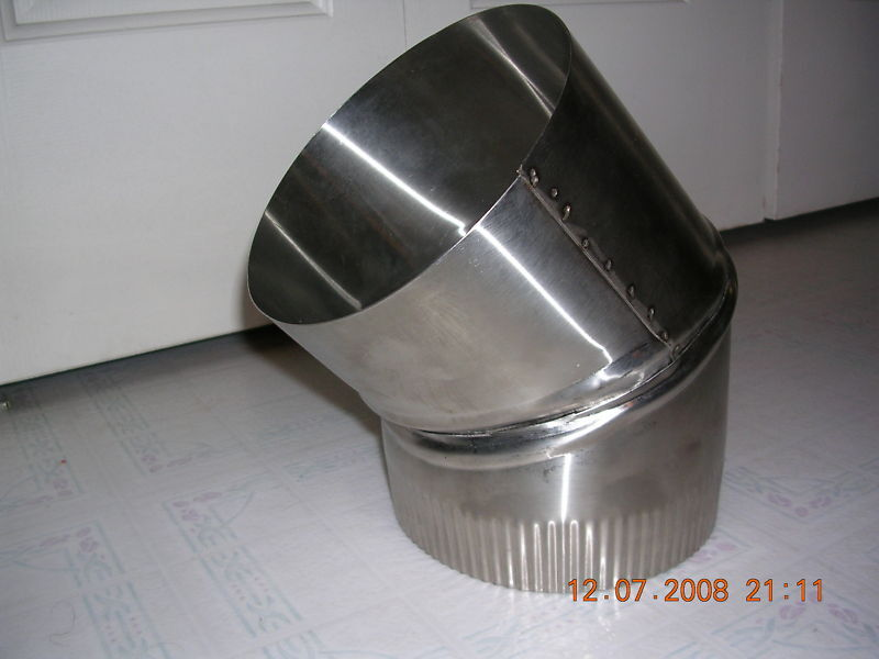 Inch stove pipe stainless steel degree single wall