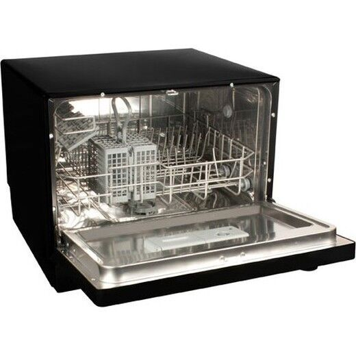 Countertop Dishwasher Koldfront : Koldfront Countertop Dishwasher, 6 Setting Black Compact Portable Dish ...