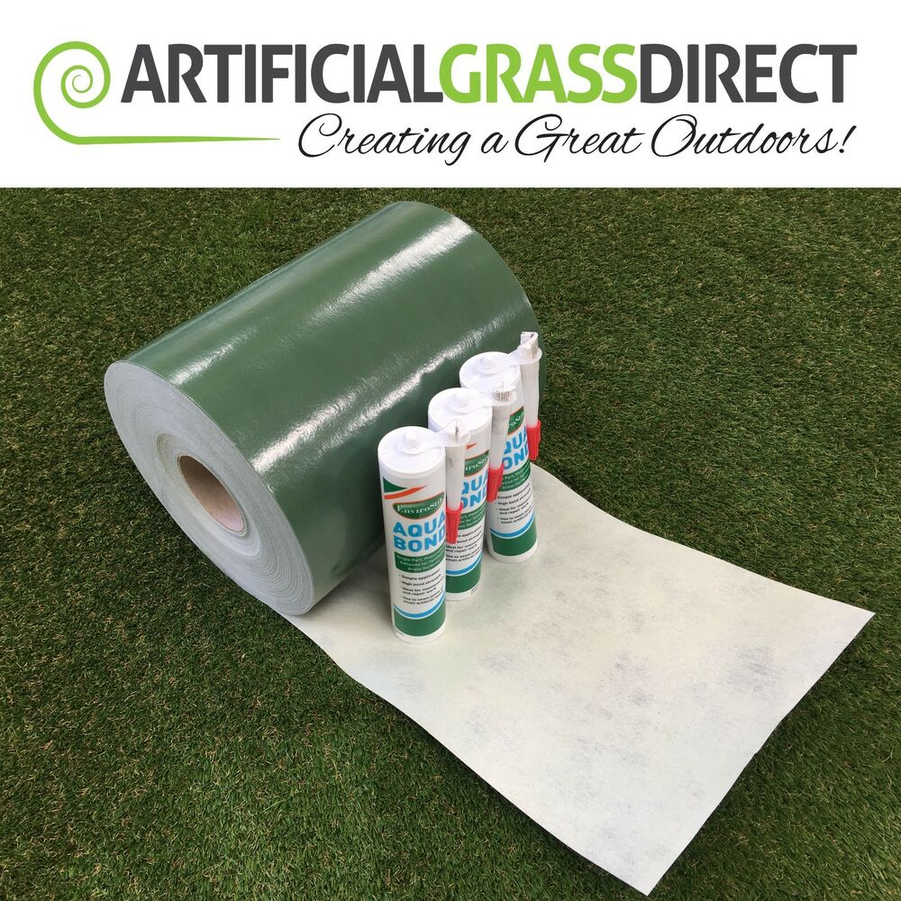 Artificial grass tape and adhesive package special glue - Imitation faience adhesive ...