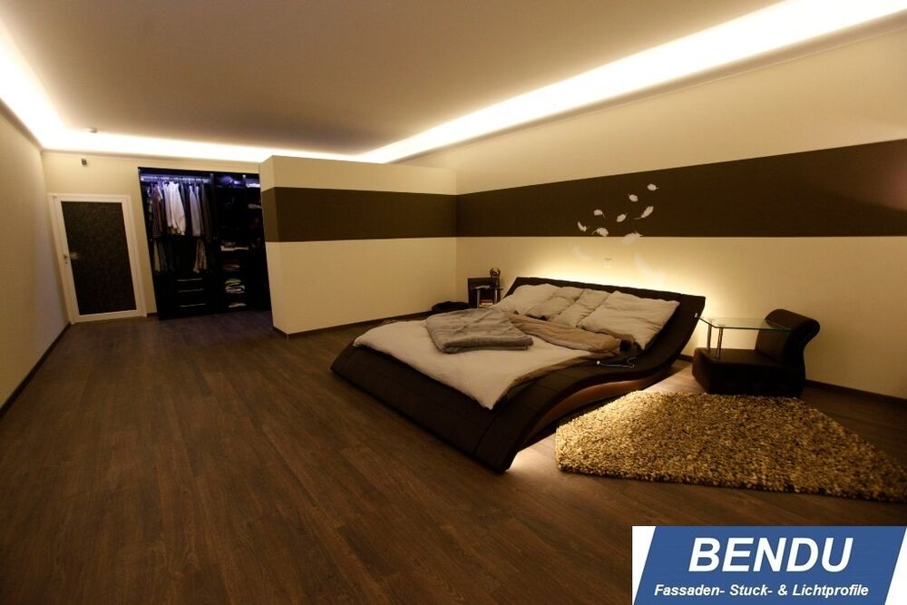 bendu stuckleisten led indirekte beleuchtung lichtprofile stuckprofil hartschaum ebay. Black Bedroom Furniture Sets. Home Design Ideas