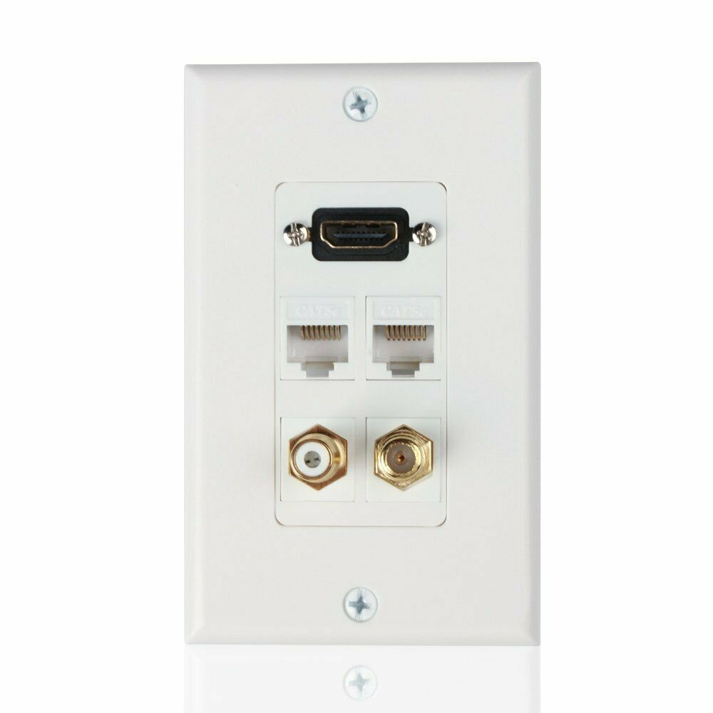 hdmi ethernet rj45 rca coaxial wall plate jack socket. Black Bedroom Furniture Sets. Home Design Ideas
