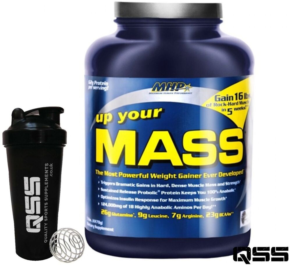 MHP UP YOUR MASS 2LB/5LB/10LB PROTEIN WEIGHT GAINER