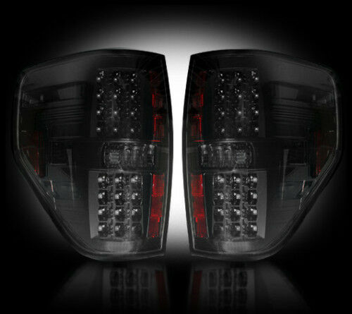 recon ford f150 smoked led tail lights 09 14 part 264168bk ebay. Black Bedroom Furniture Sets. Home Design Ideas