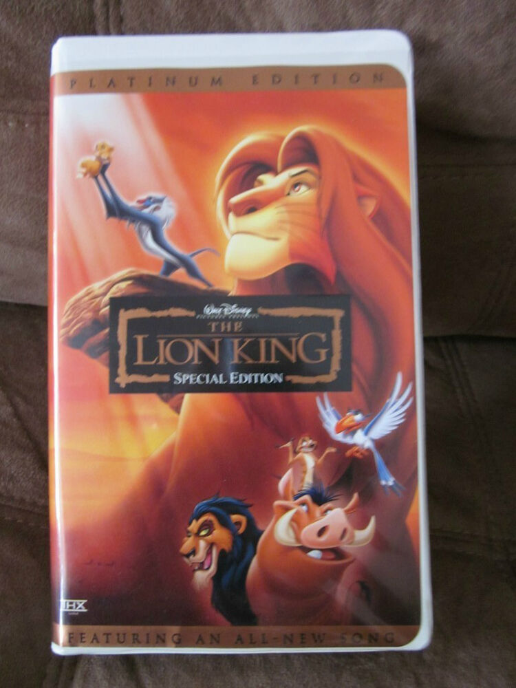 the lion king special edition vhs movie