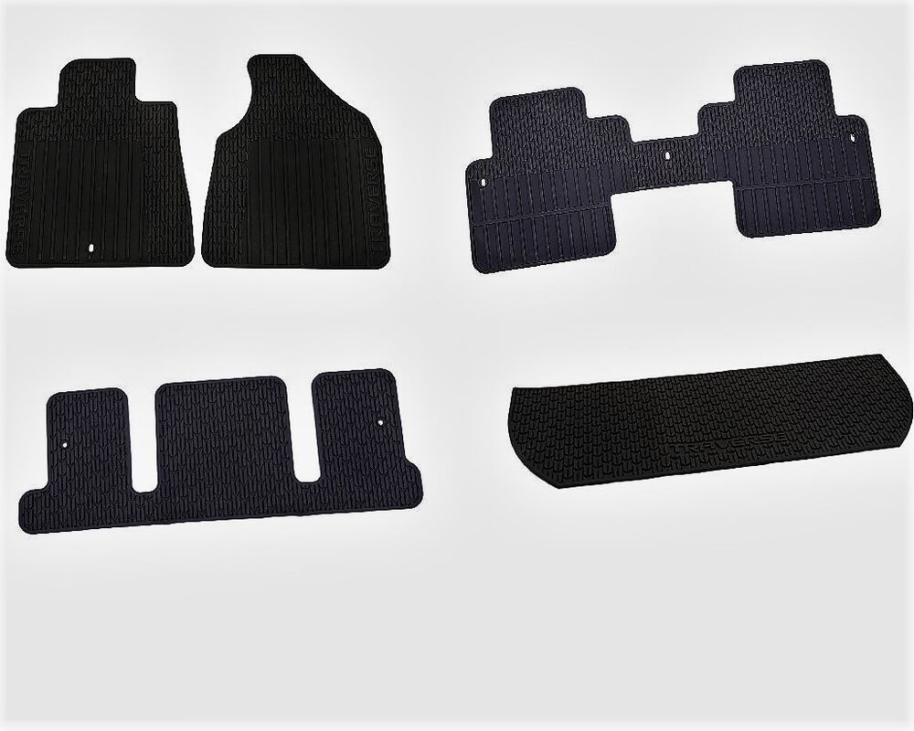 Complete All Weather Black Floor Mat Kit Fits 2009 2015