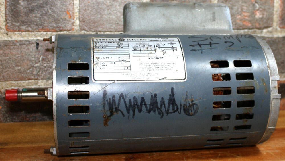 Ge 5kcr39qn9969gt a c electric thermally protected motor for General electric ac motor thermally protected