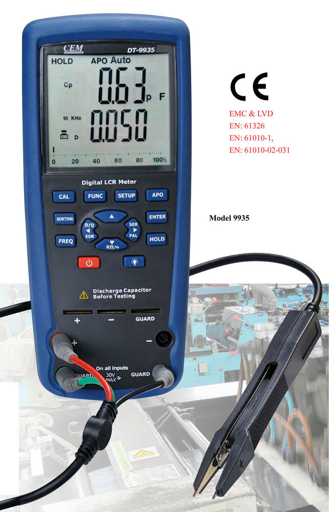 4 Wire Ohmmeter : Cem lcr meter dt kelvin wire ohm inductance