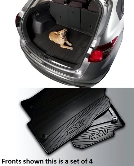 mazda cx 5 cargo tray with mazda cx 5 set of 4 all weather floor mats ebay. Black Bedroom Furniture Sets. Home Design Ideas