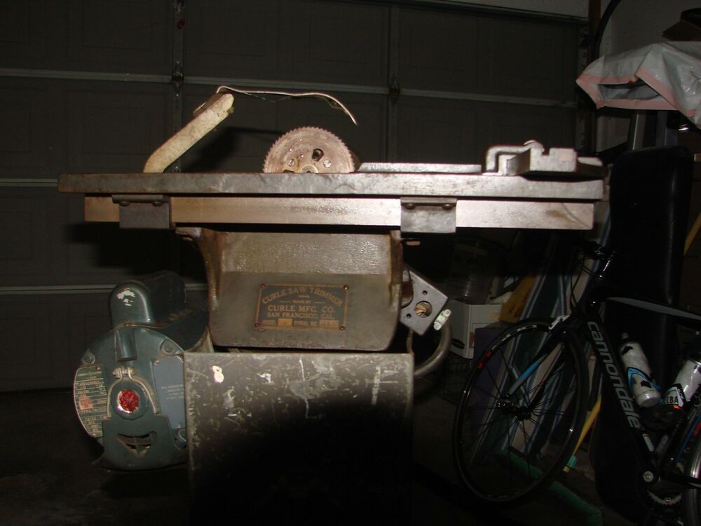 Curle Saw Trimmer Printer Table Saw Runs Good Ebay