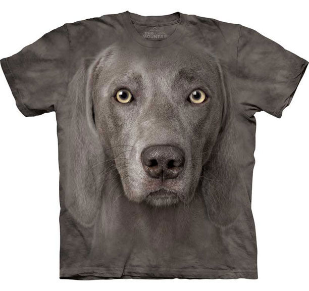 The mountain weimaraner dog puppy animal big face adult t for Dog t shirt for after surgery